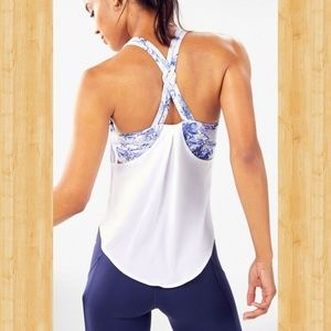 nwtFabletics powertouch built in bra swing Tank
